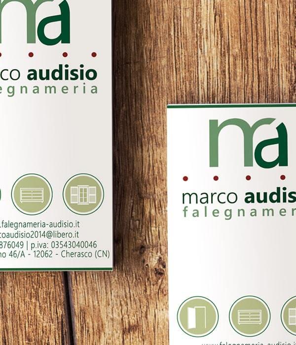 Grafica Biglietti da visita Falegnameria Marco Audisio cuneo fossano MG Production