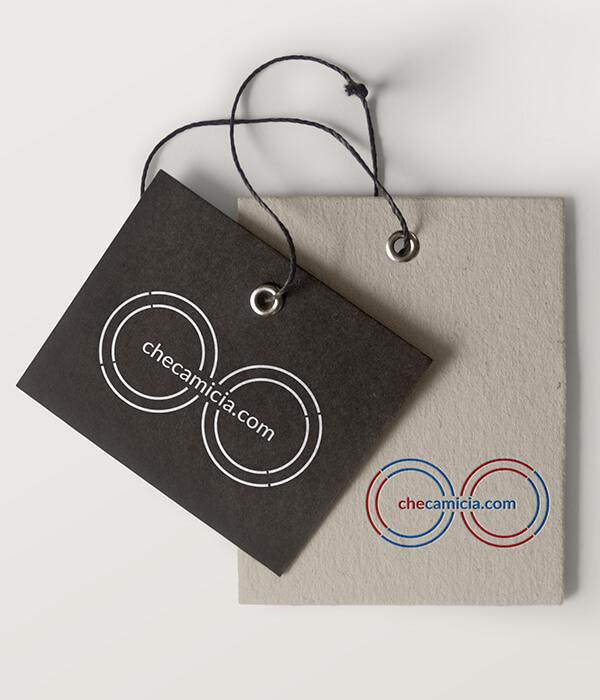 Marchio e logo abbigliamento CheCamicia.com logotipo progettazione grafica